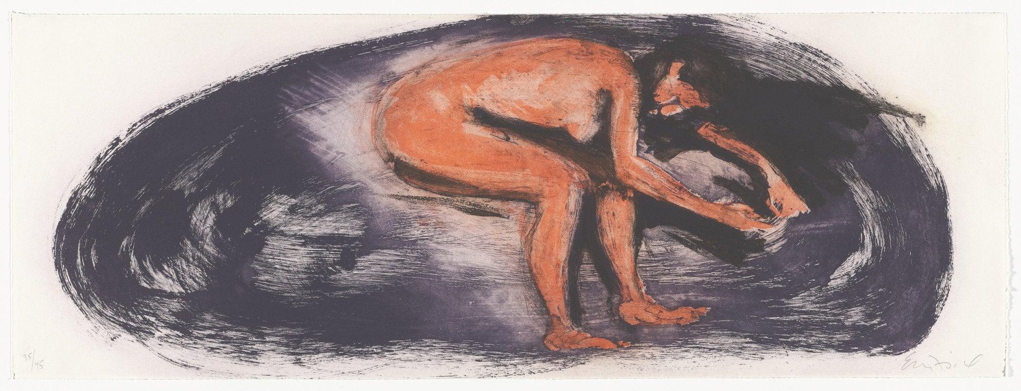 "Untitled, 1985. Aquatint. 11 5/8 x 31 5/8"" (29.5 x 80.3cm)"