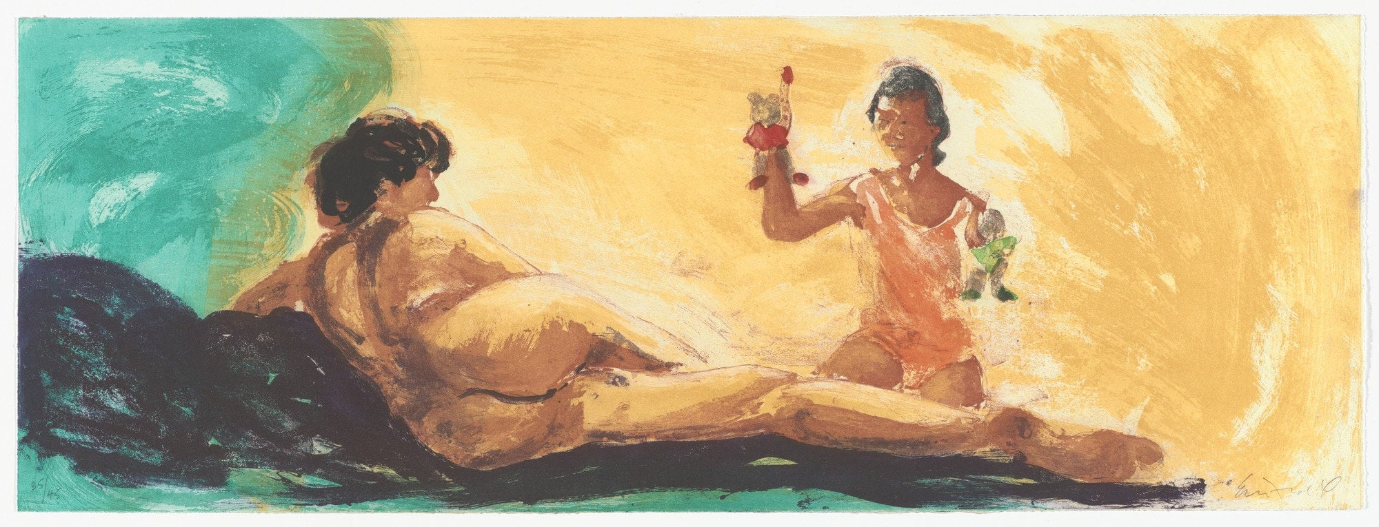 "Untitled, 1985. Aquatint. 11 5/8 x 31 9/16"" (29.5 x 80.2cm)"