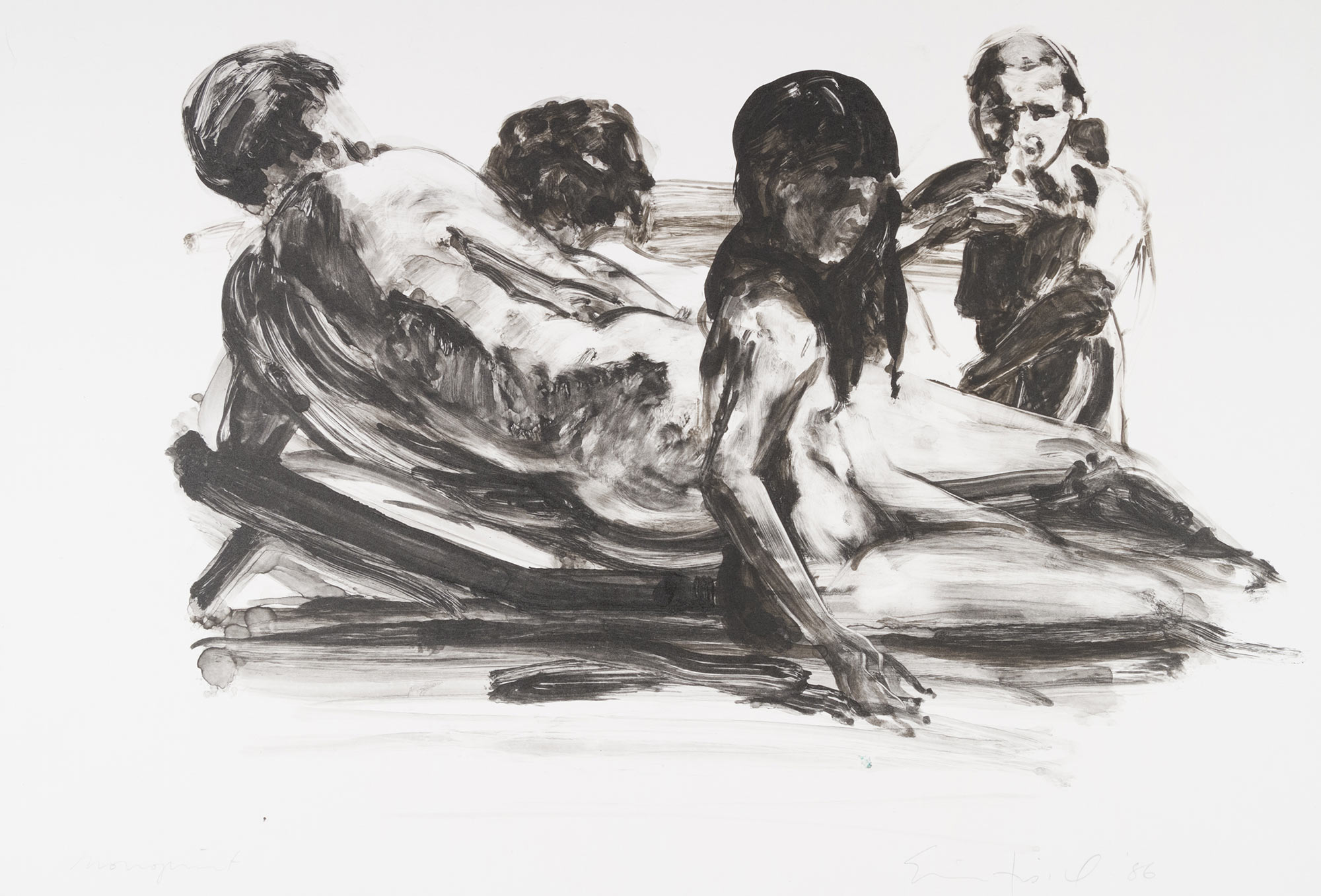 Scenes and Sequences: Seated Figures on a Beach, 1986.