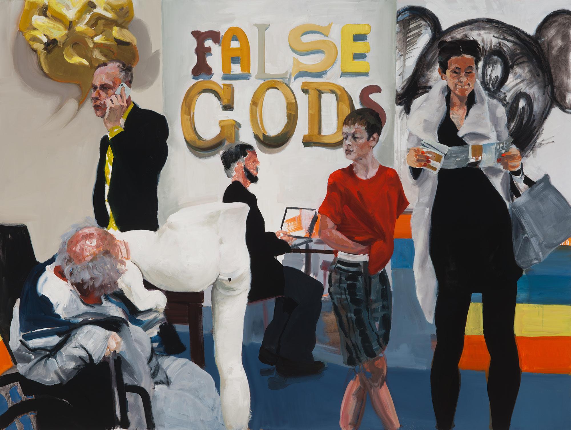 False Gods, 2015. Oil on Linen. 56 x 76 in. (142 x 193 cm.)