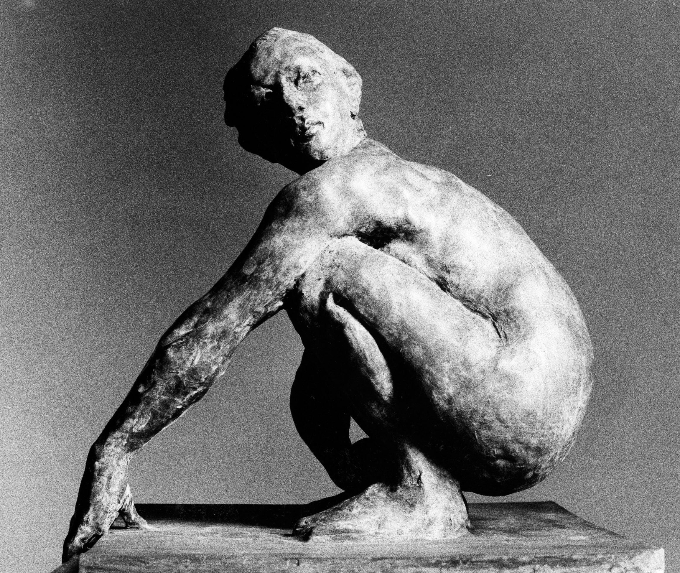 Squatting Woman, 1997. Bronze 21 x 19 x 18 inches