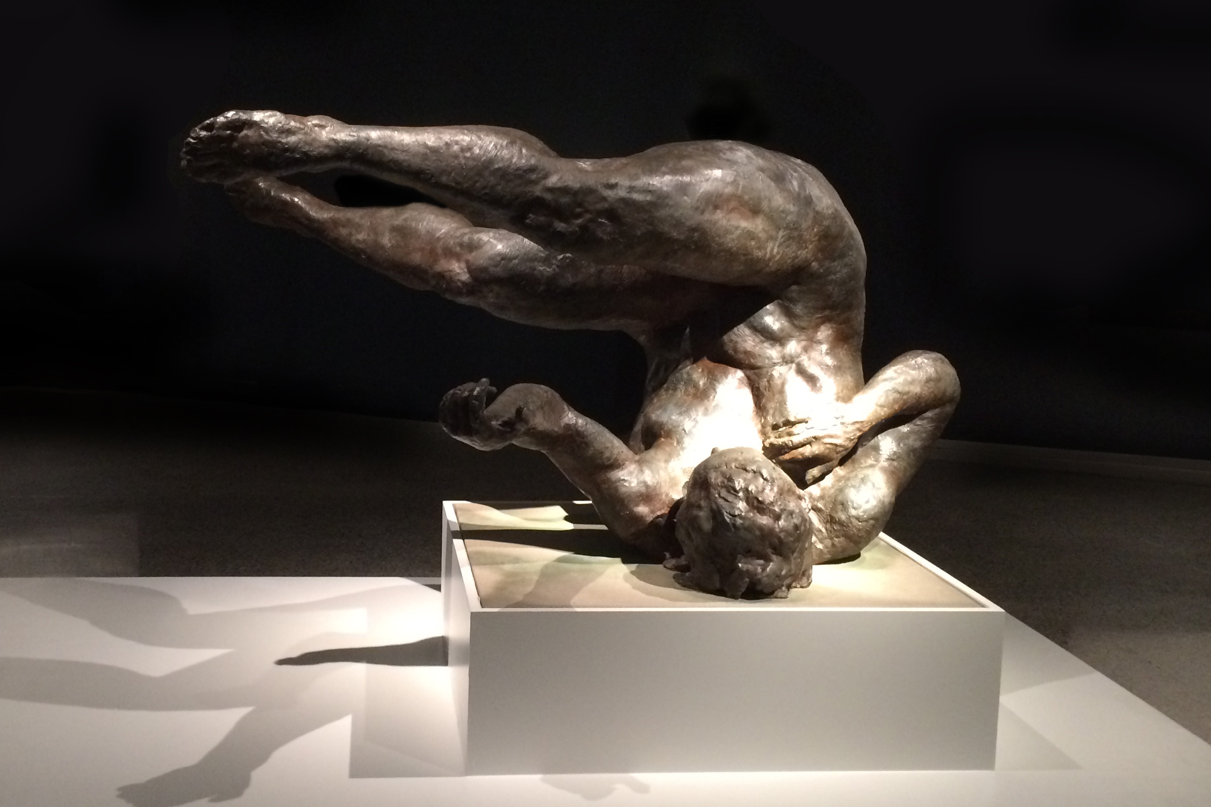 Tumbling Woman, 2002. Bronze 37 x 74 x 50 in.