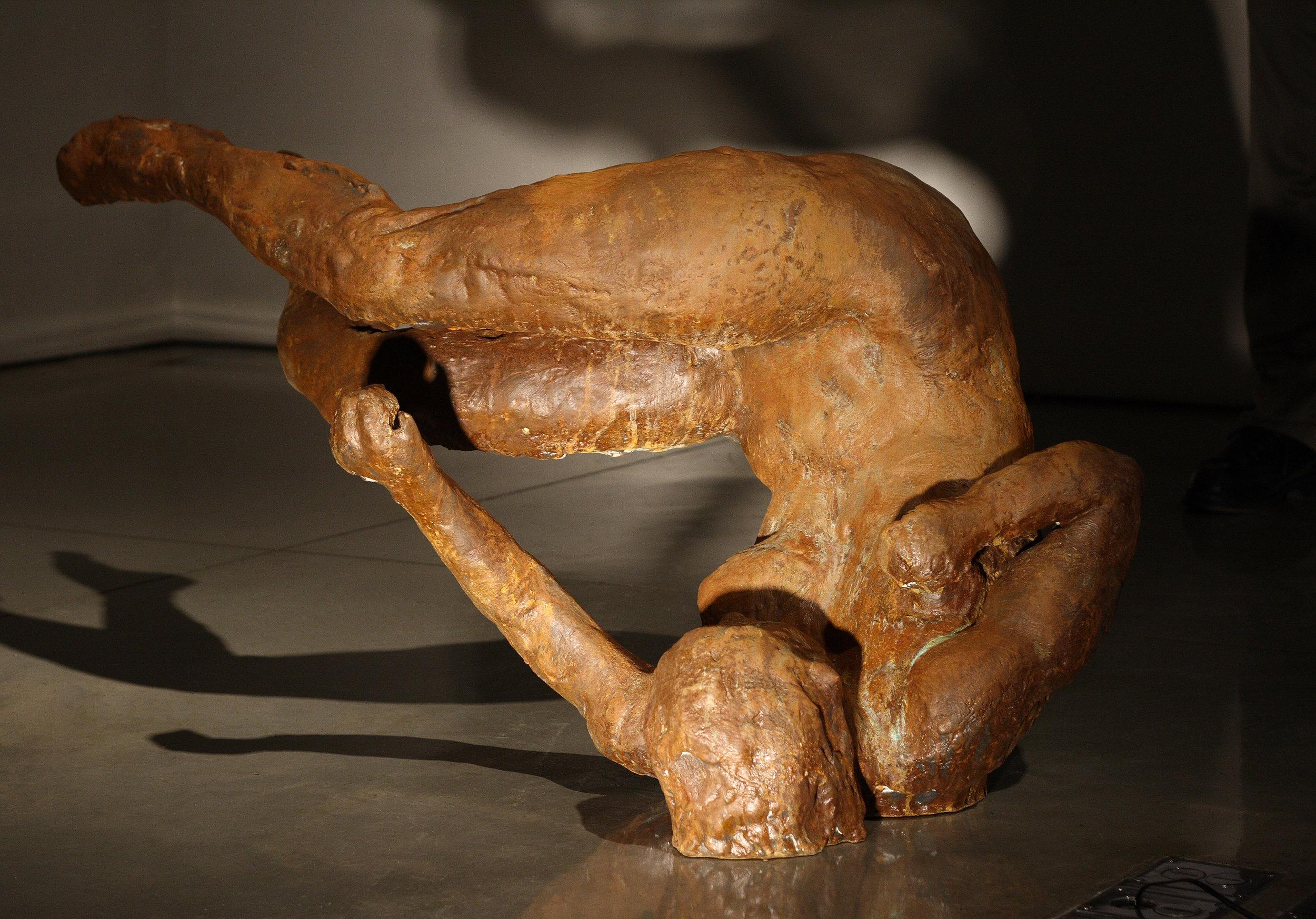 Ten Breaths: Tumbling Woman II, 2007. Bronze 25 1/2 x 47 1/2 x 26 in.