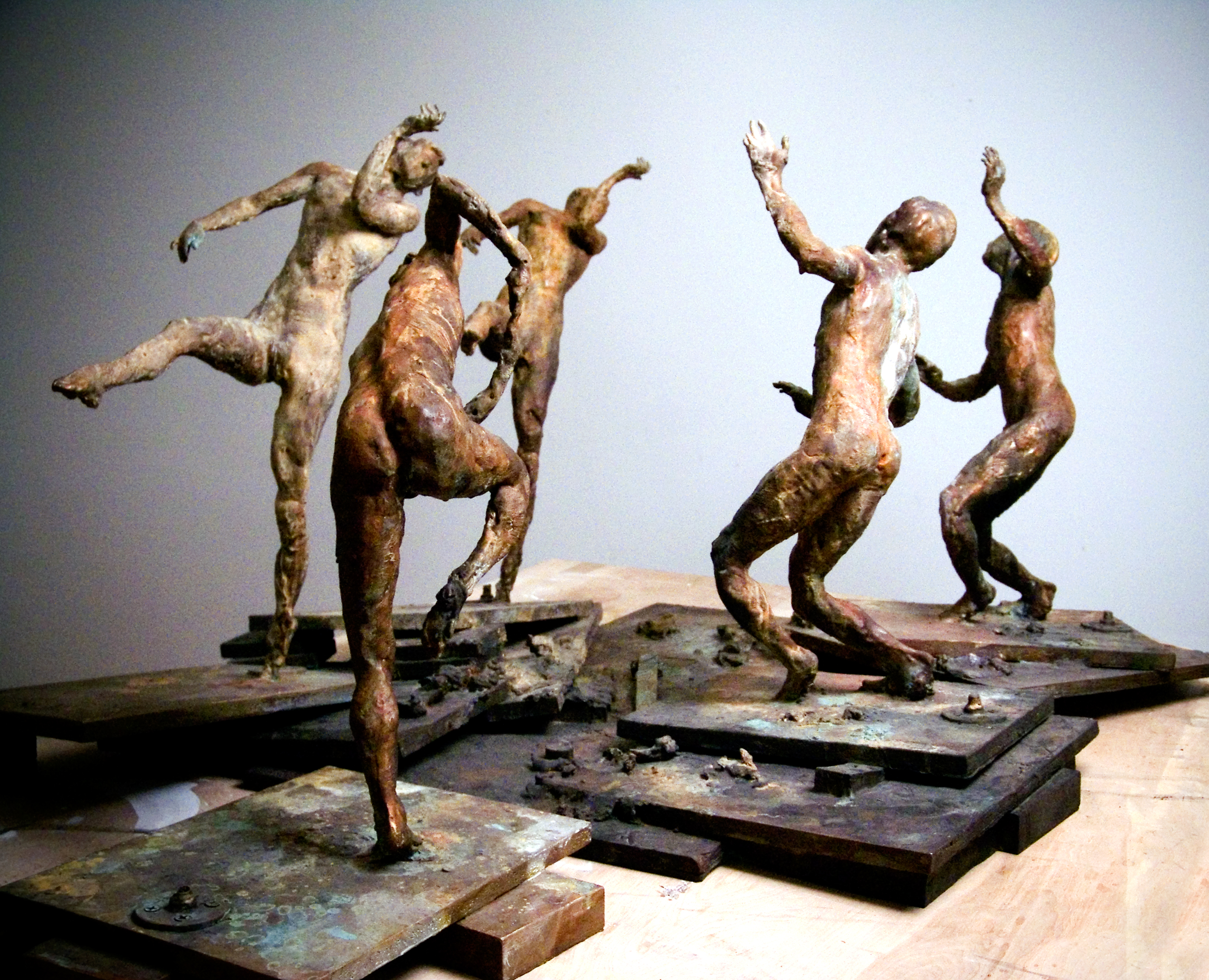 Study for Ten Breaths: Congress of Wits, 2007. Bronze 27 x 39 1/2 x 68 in