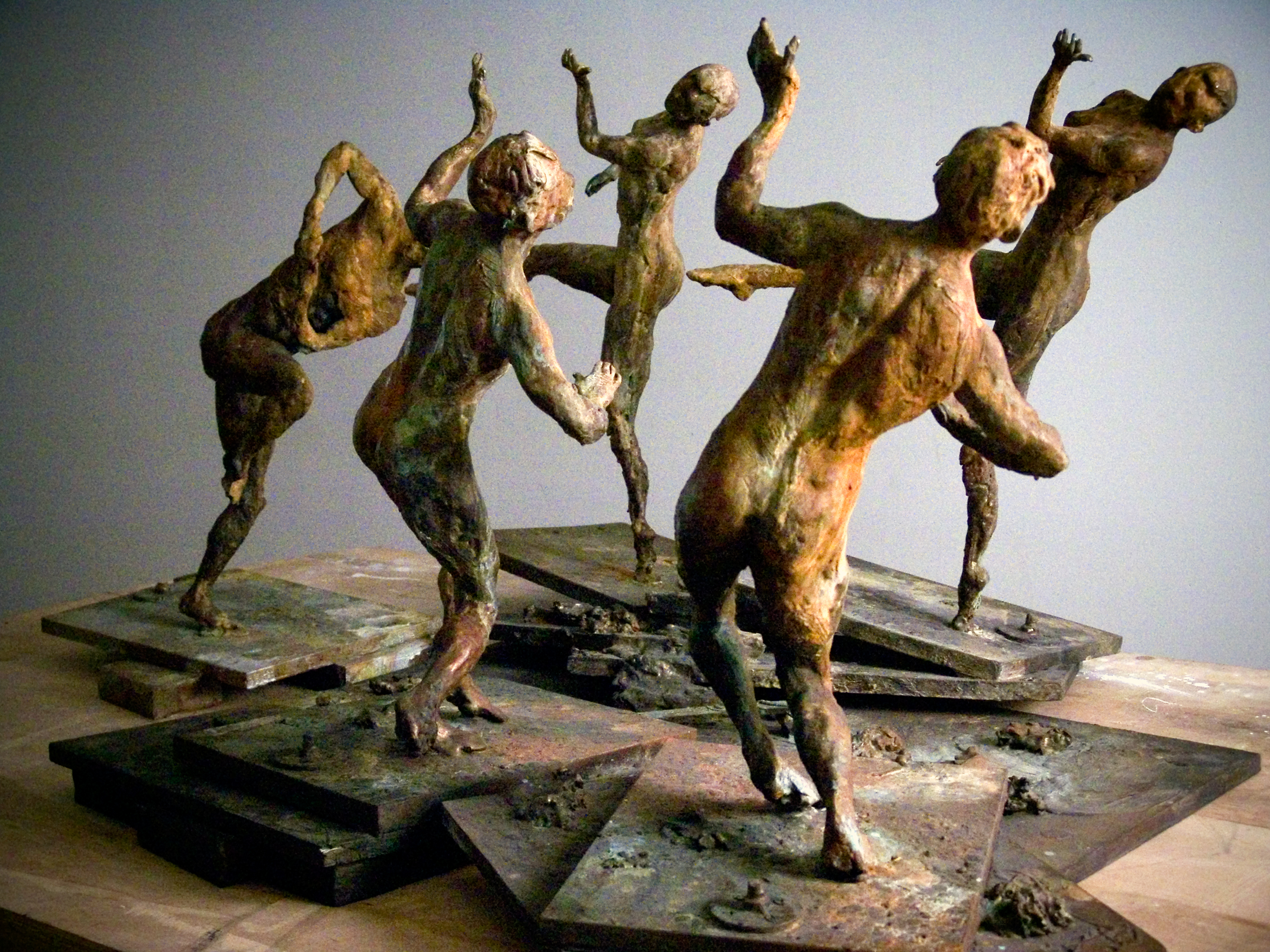 Study for Ten Breaths: Congress of Wits, 2007. Bronze 27 x 39 1/2 x 68 in.