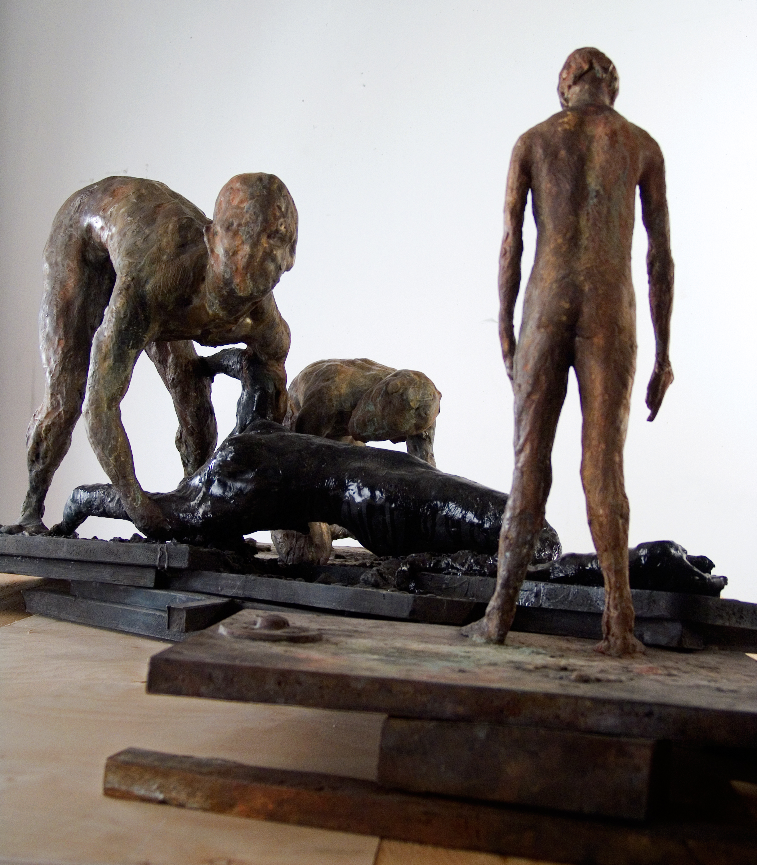 Study for Damage, 2007. Bronze 19 1/2 x 58 x 42 in.