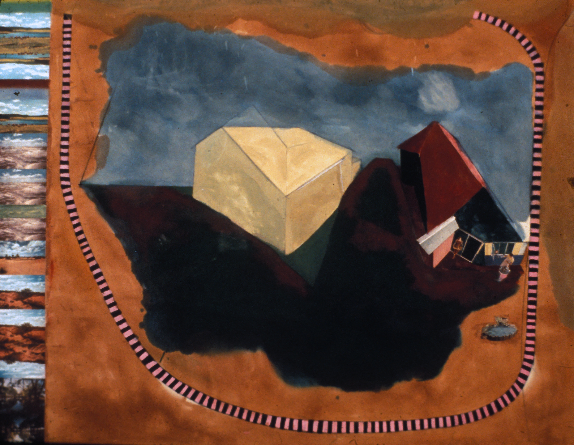 Untitled, 1972, mixed media, 72 x 96 in