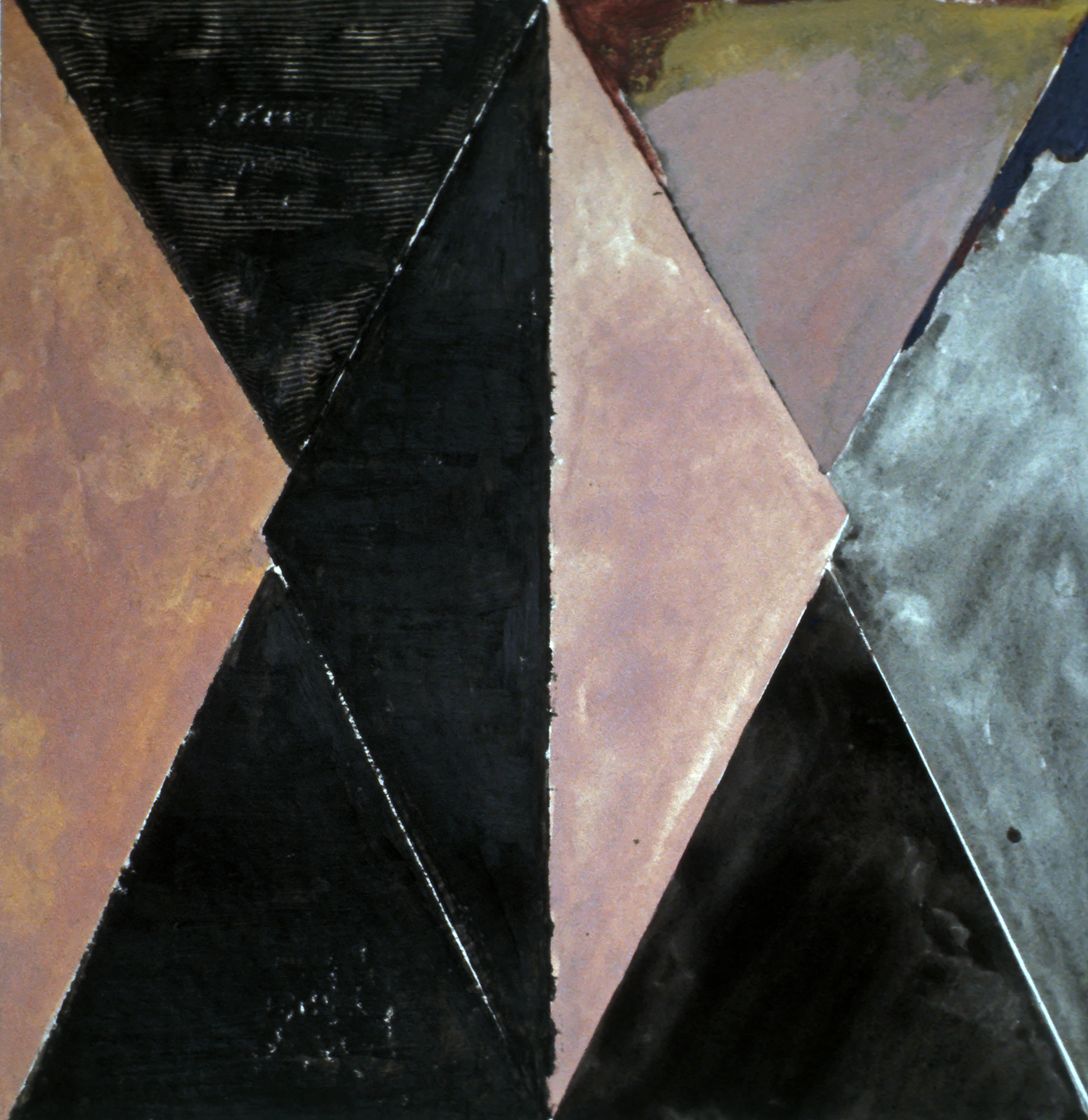 Untitled, 1973, oil on paper 20 x 20 in.