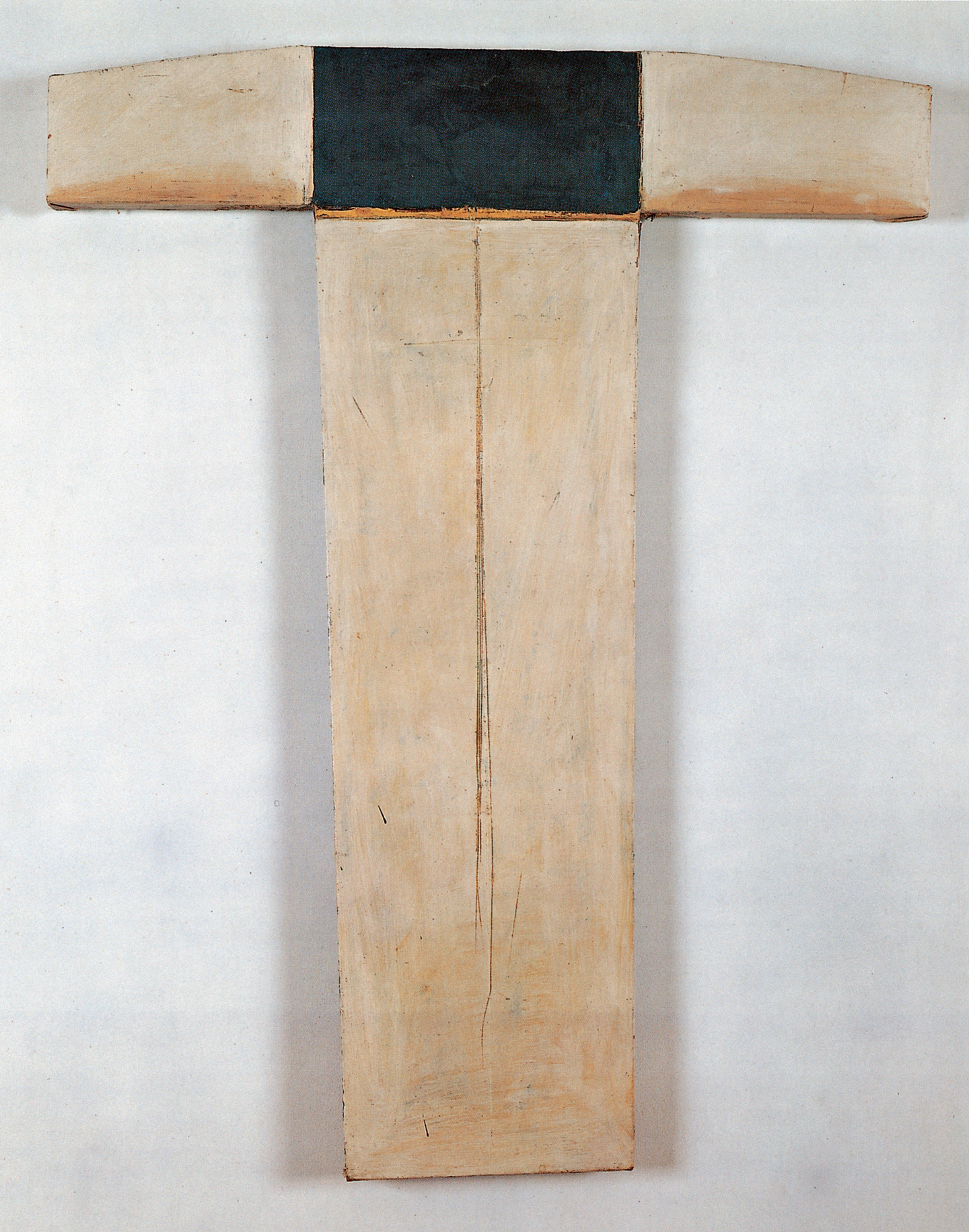 Untitled, (Steer), 1975, oil and wax on canvas 32 1/4 x 25 1/2 in.