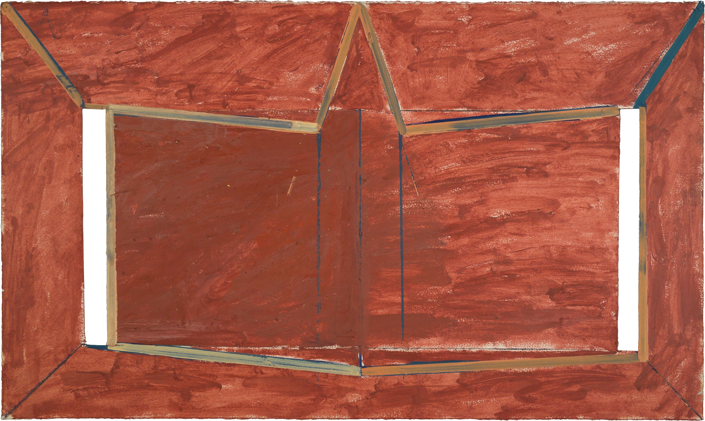Untitled, 1975, oil and wax on paper, 22 x 30 in.