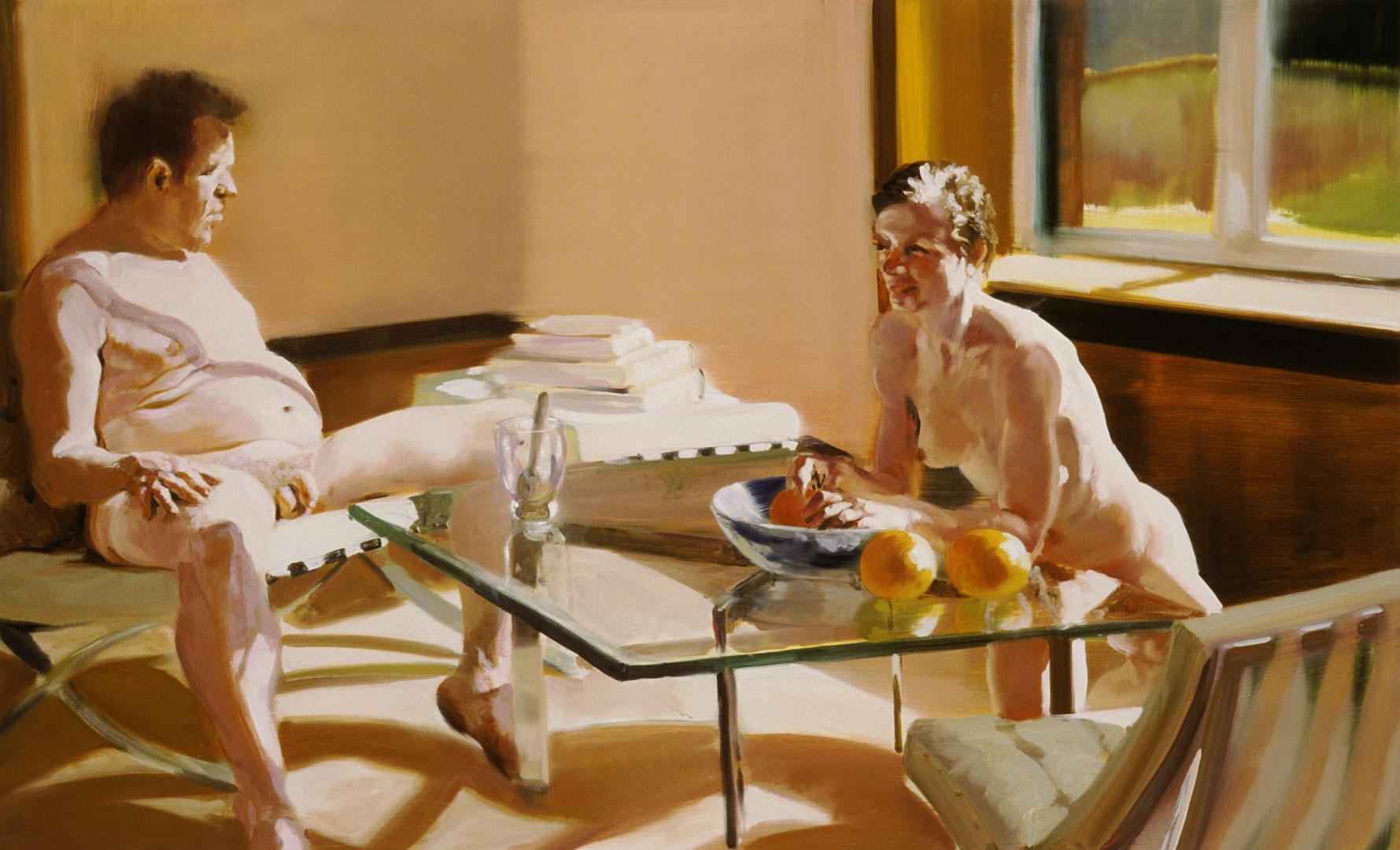Krefeld Project; Sunroom, Scene #3, 2002. Oil on linen. 40.5 x 65 in. (103 x 165 cm)