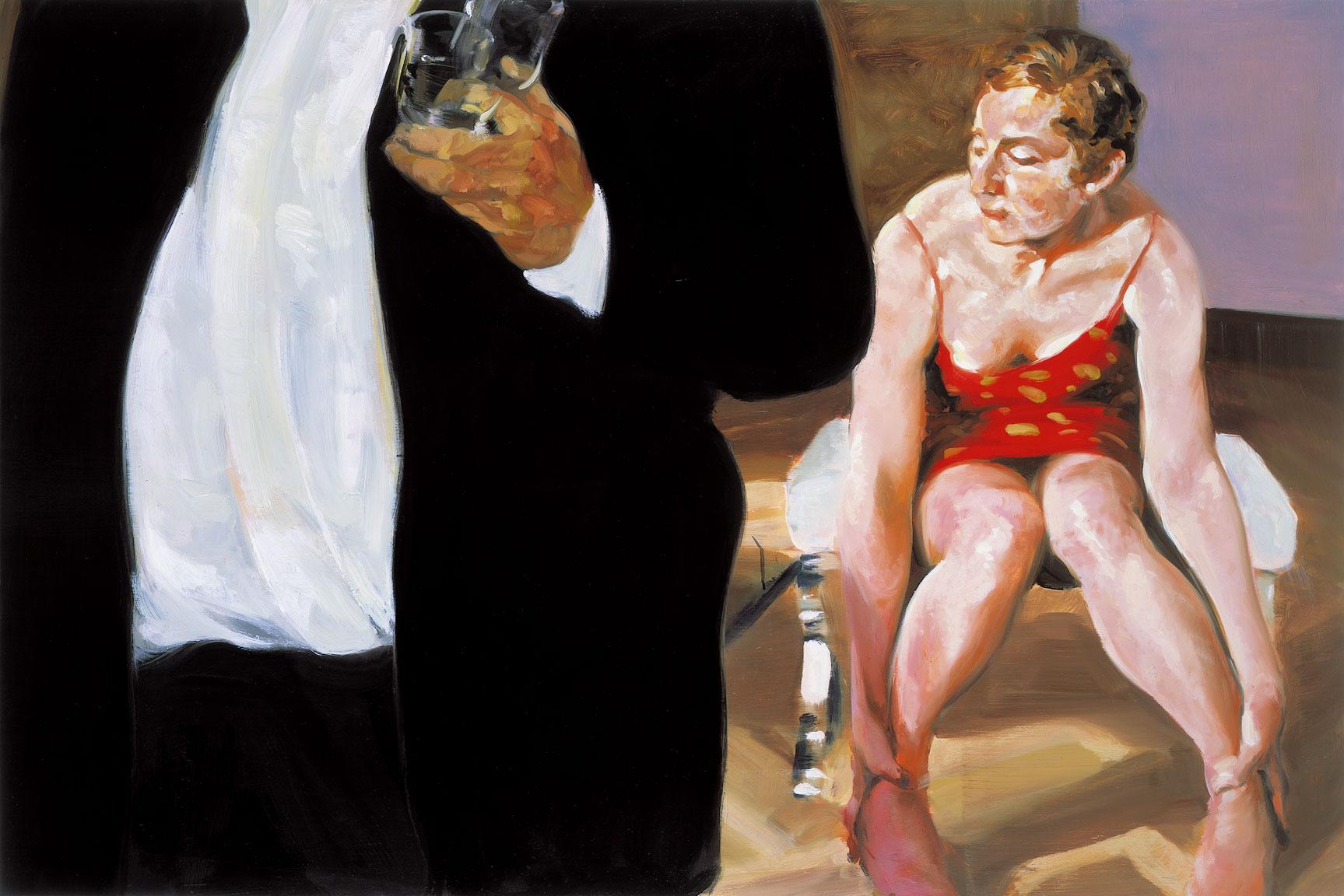 Krefeld Project; Sunroom, Scene #2, 2002. Oil on linen. 36 x 54 in. (91 x 137 cm)