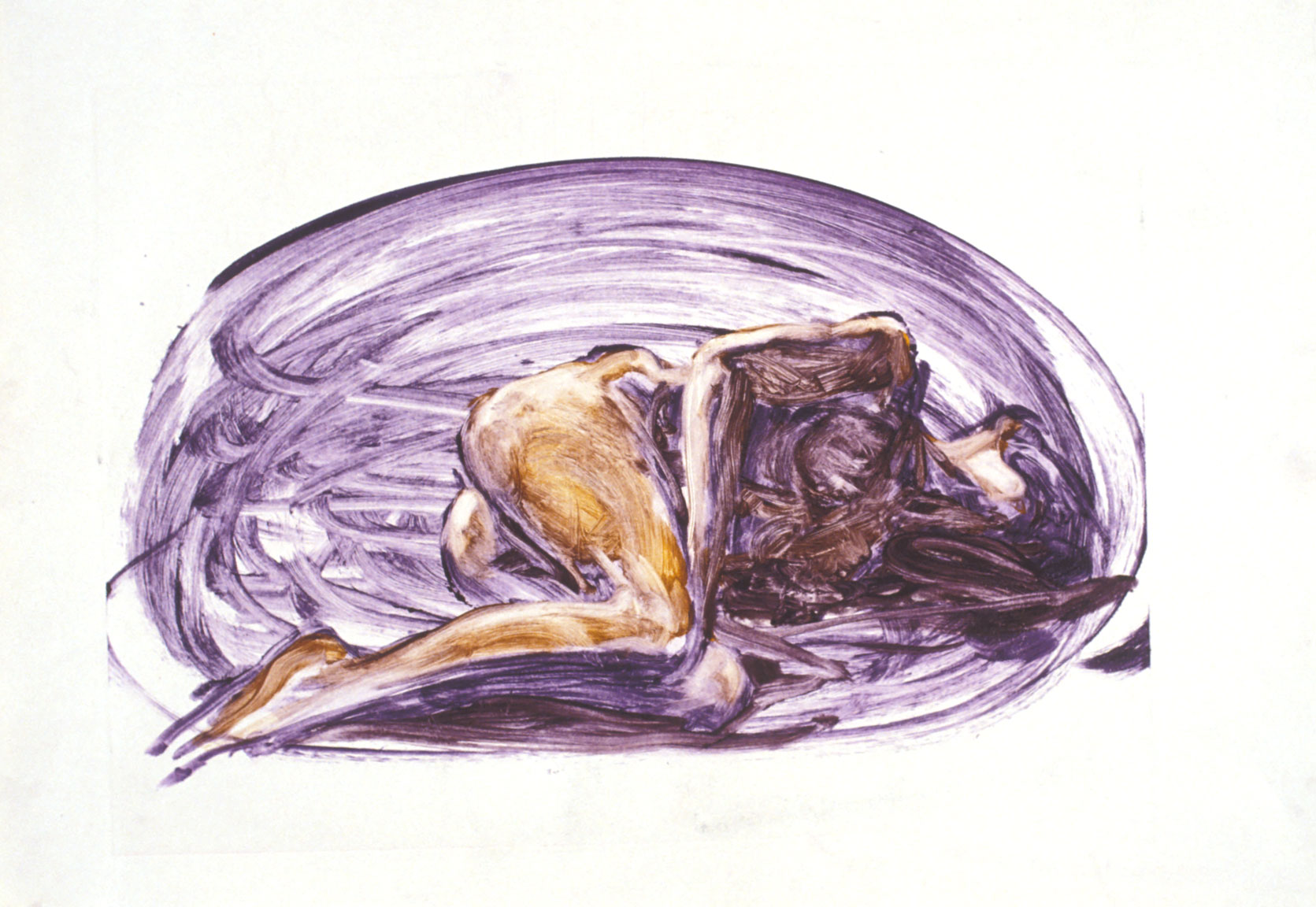 Edward Weston Figure, 1985. monotype on Paper 21 x 30 inches