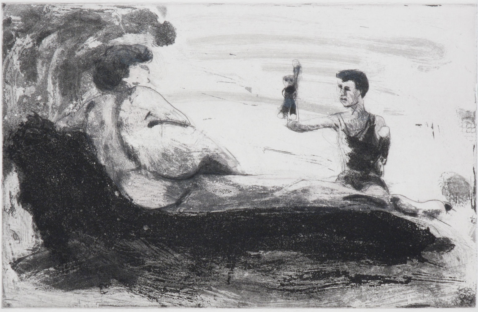 Floating Islands Proof for Puppet Tears, 1985. Study proof H, 6.25 x 9.75 inches