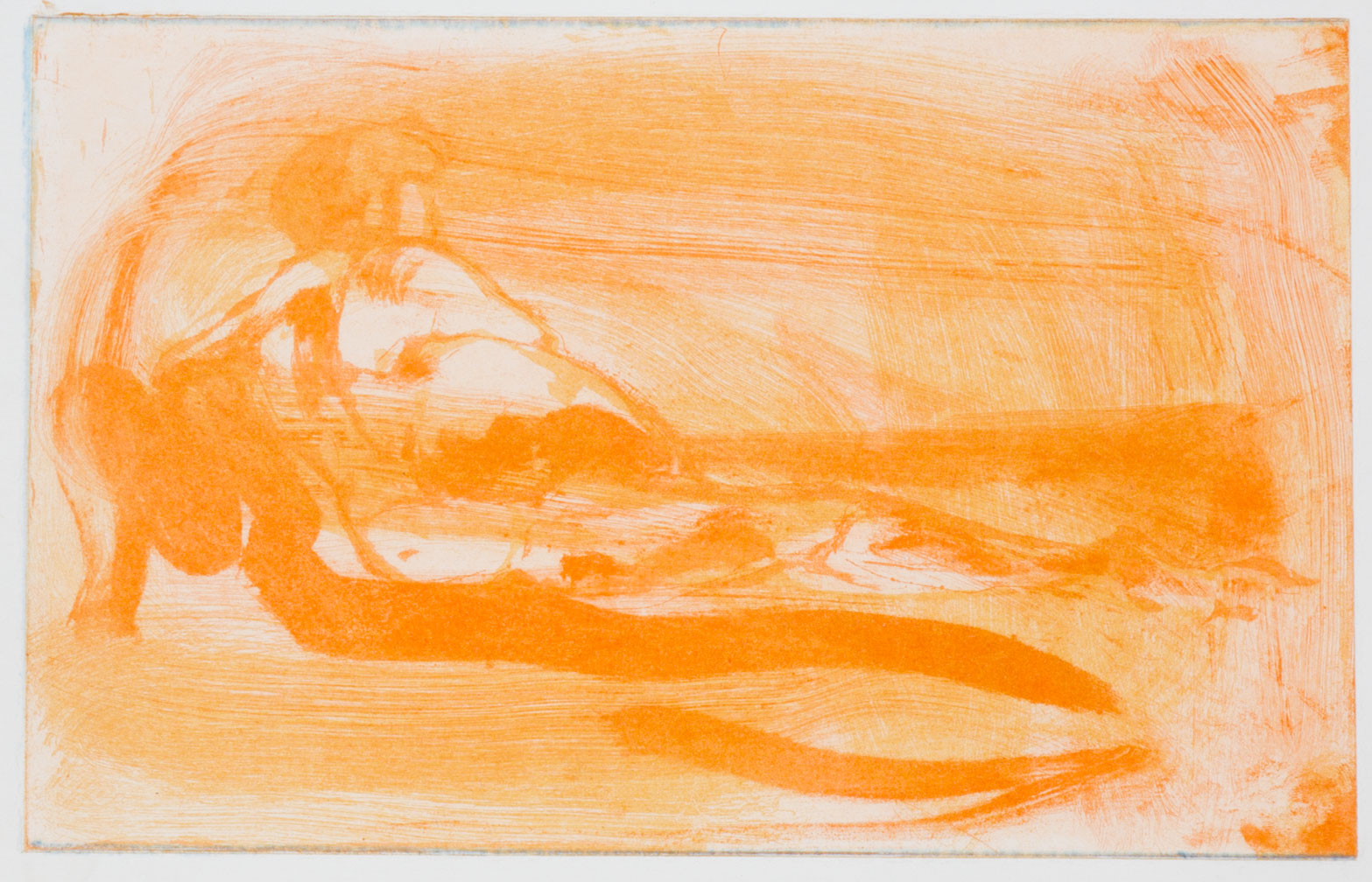 Floating Islands Proof for Puppet Tears, 1985. Study proof R, 6.25 x 9.75 inches