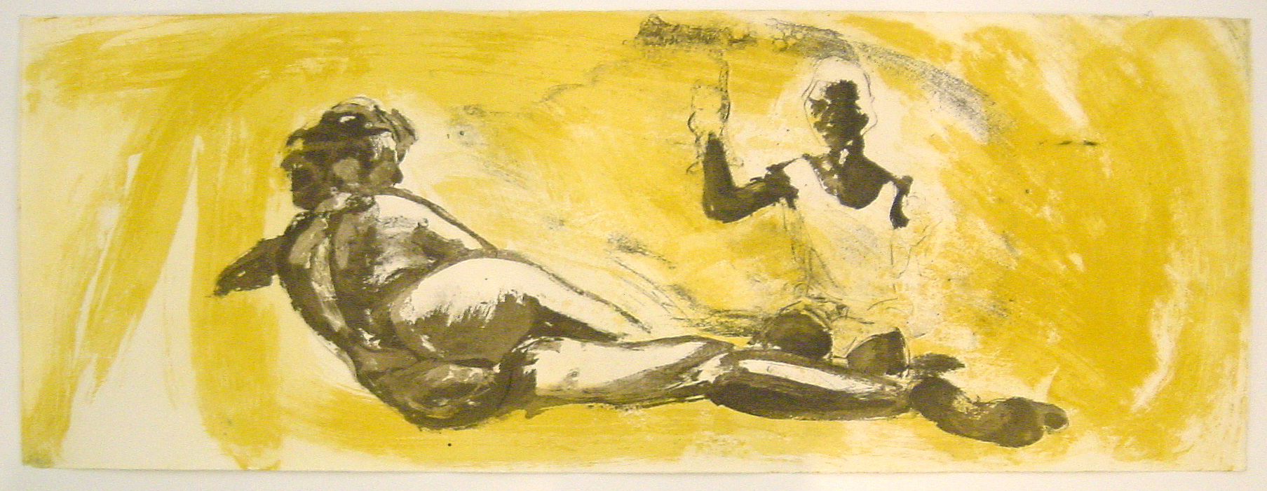 Floating Islands Proof for Puppet Tears (large version), 1985. etching on Paper, 5 APs (study proof) 12 x 32 inches