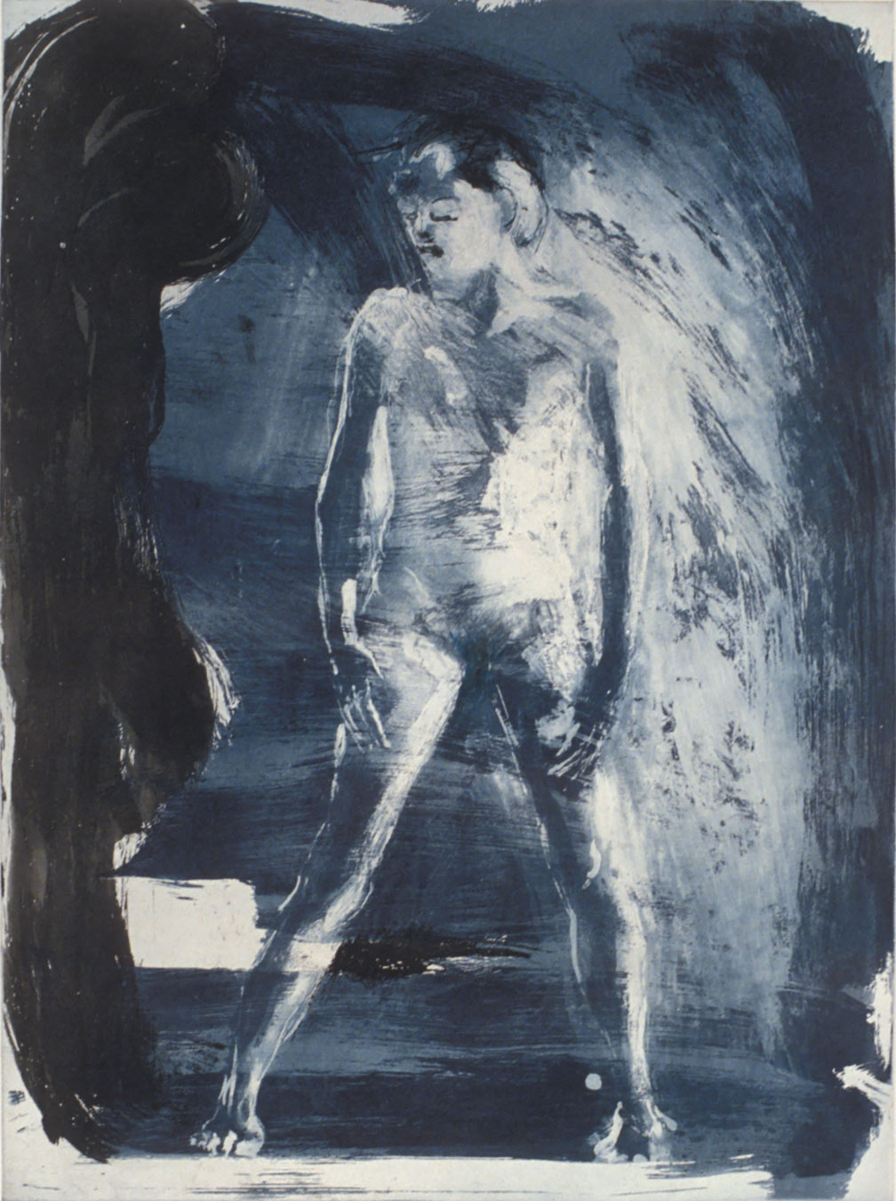 Floating Islands George Platt Lynes Figure, 1985. Etching on paper, study proof, 30 x 21 inches