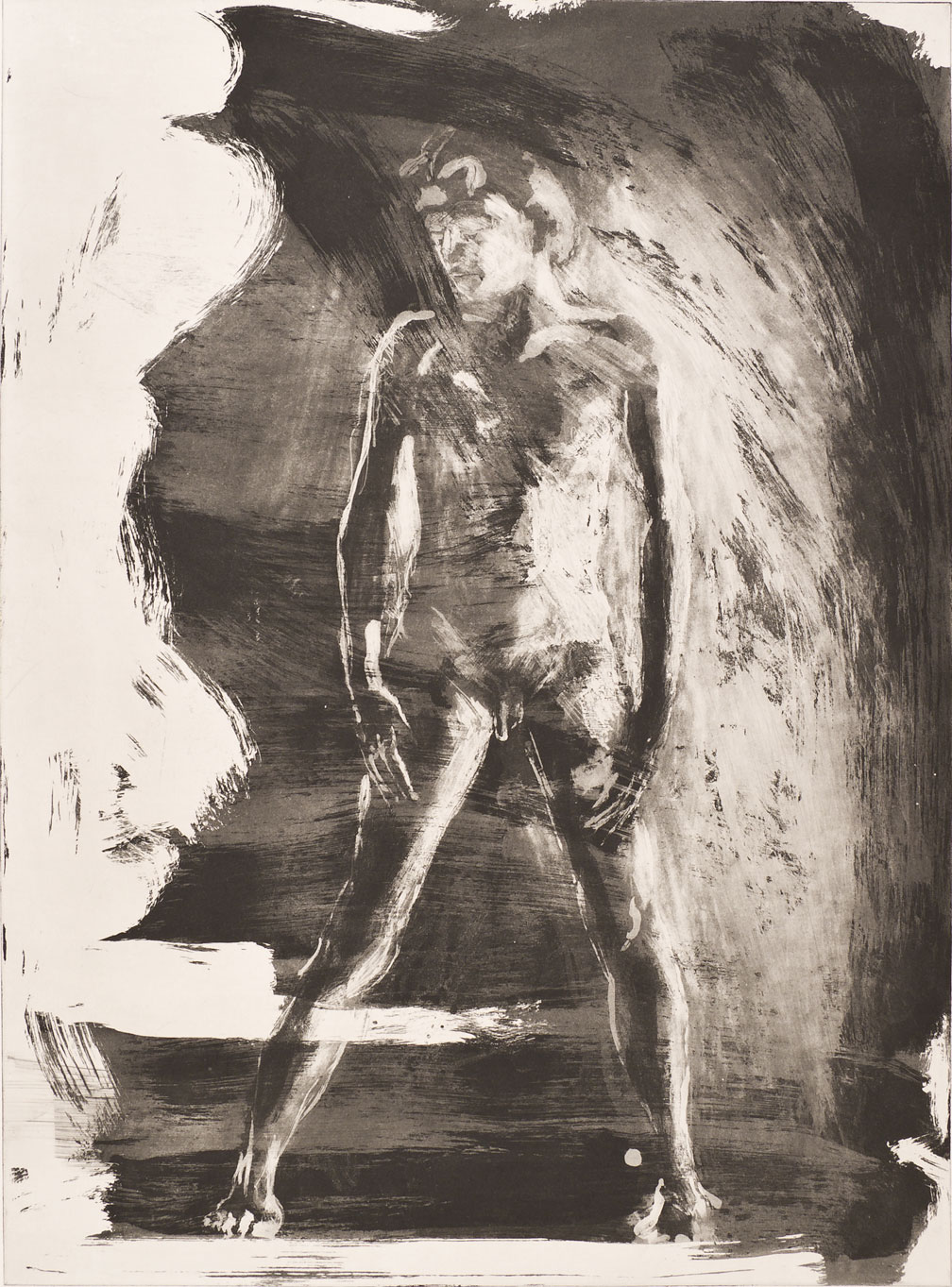 Floating Islands George Platt Lynes Figure, 1985. Etching on paper, study proof J, 30 x 21 inches