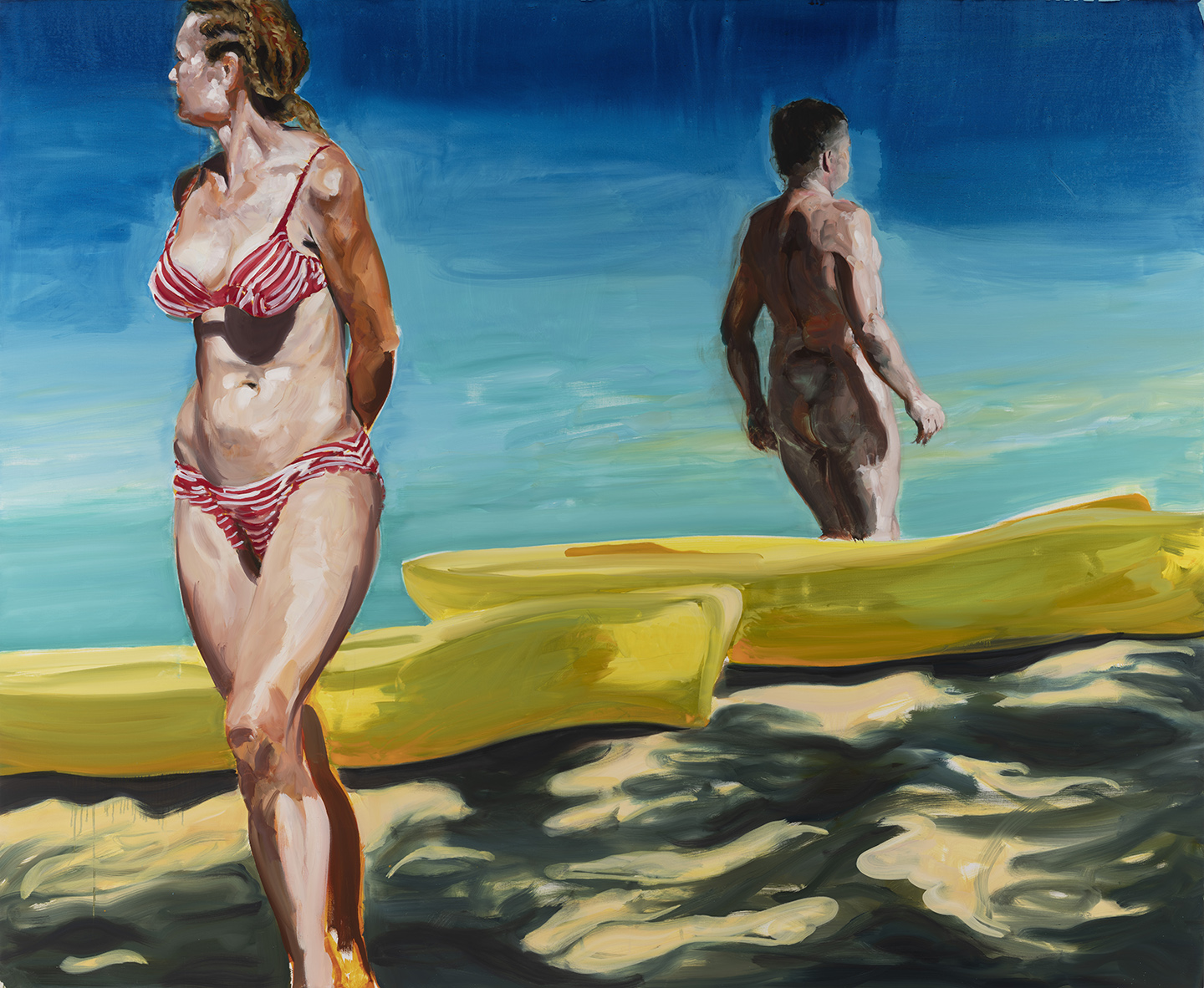 On the Beach 2019. Oil on Linen. 80 x 98 inches