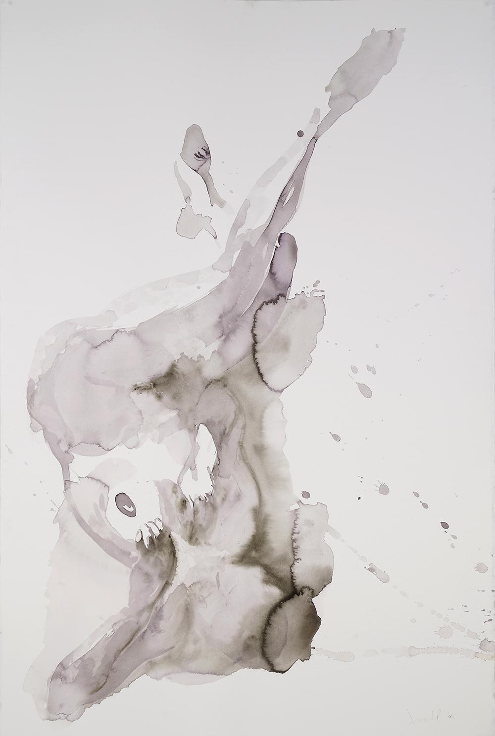 "Falling Figure #13, 2005, watercolor on paper, 60"" x 40"""