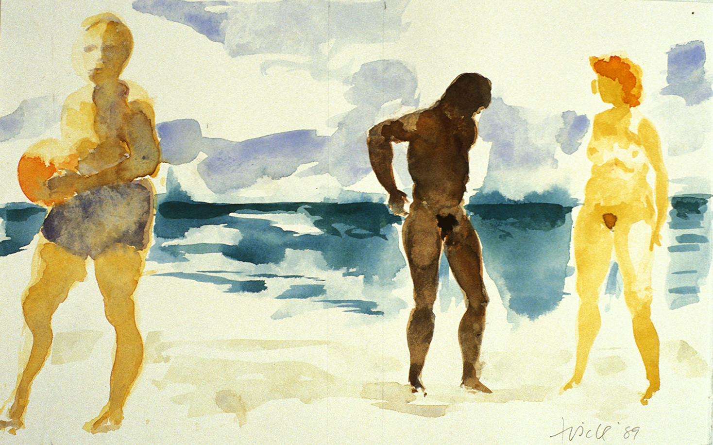 """Untitled, 1988, watercolor on paper, 9"""" x 14.5"""""""