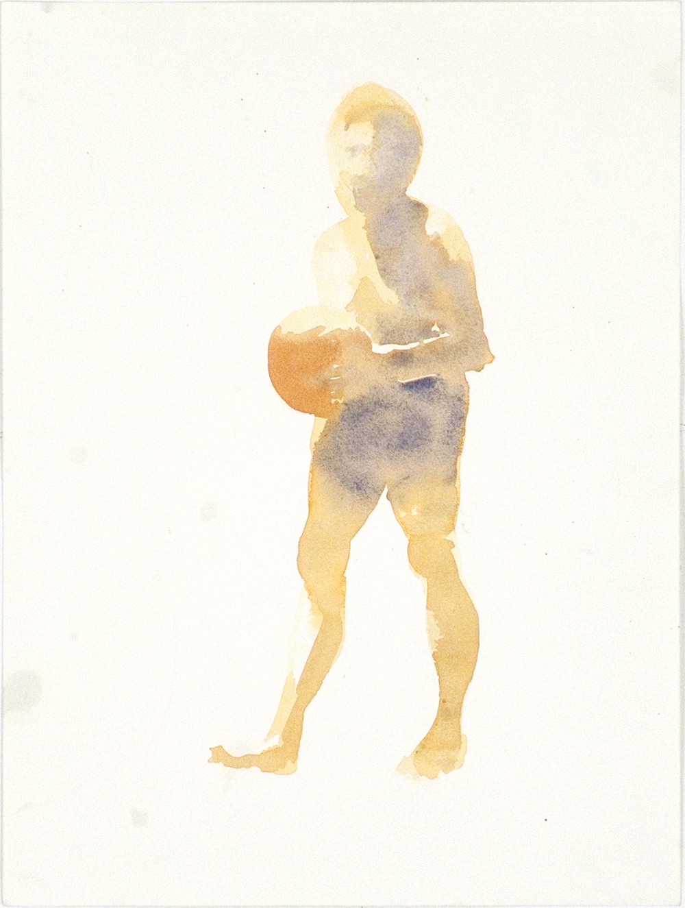 """Untitled, 1988, watercolor on paper, 12.5"""" x 9.5"""""""