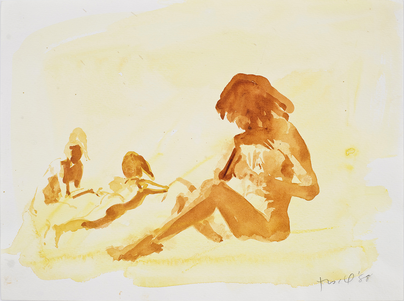 """Untitled, 1988, watercolor on paper, 9.5"""" x 12.75"""""""