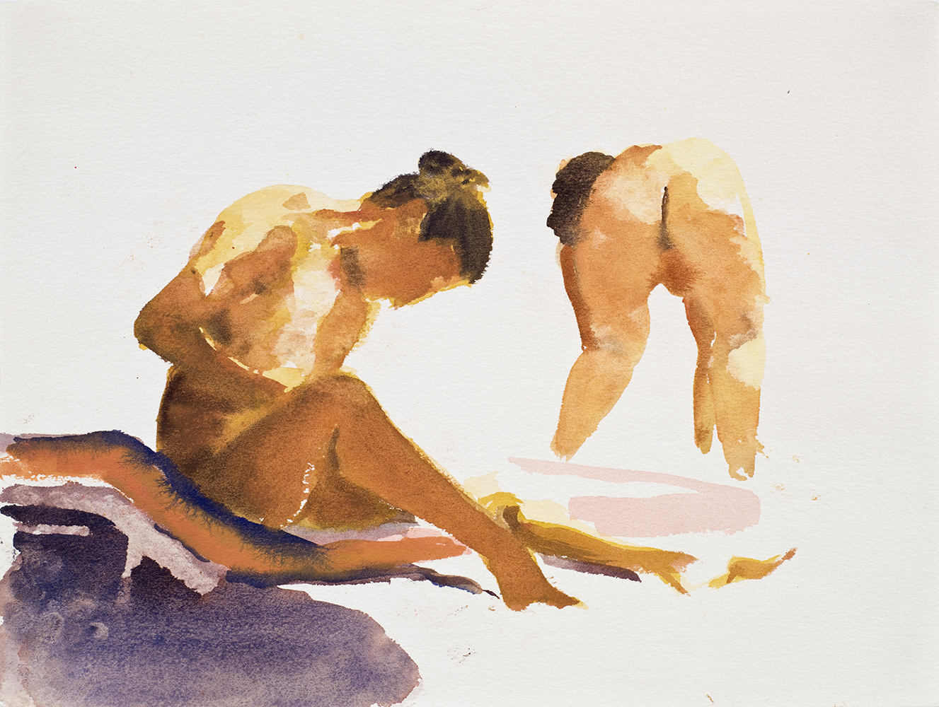 """Untitled, 1989, watercolor on paper, 9.5"""" x 12.5"""""""