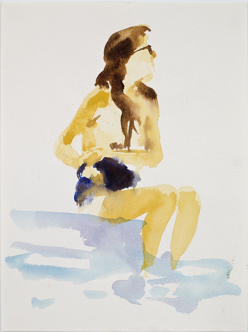 """Untitled, 1989, watercolor on paper, 12.5"""" x 9.5"""""""
