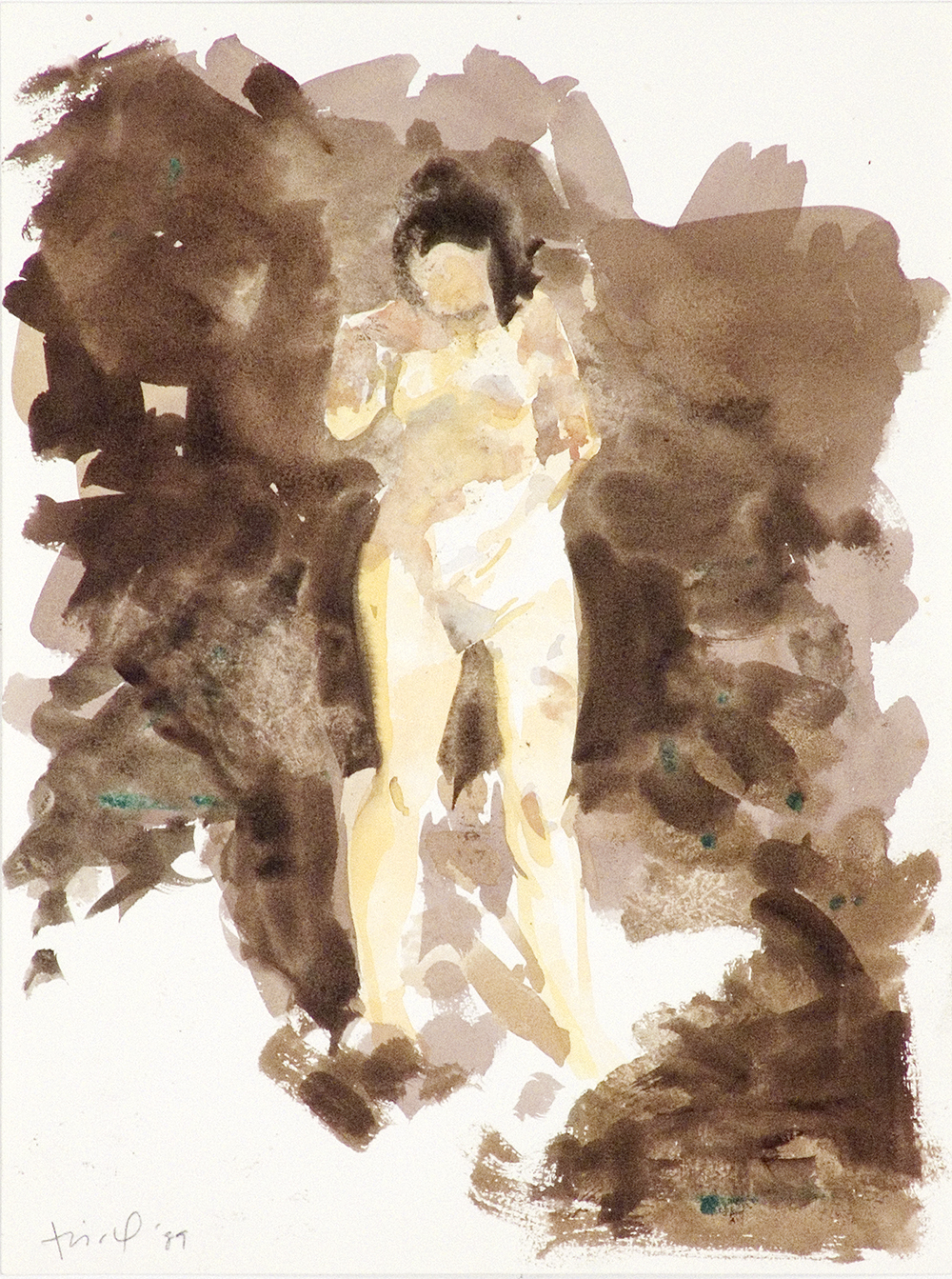 """Untitled, 1989, watercolor on paper, 12.75"""" x 9.5"""""""