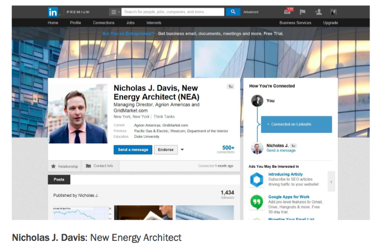Nicholas J. Davis New Energy Architect Brand Promise