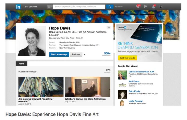 Hope Davis Fine Art Brand Promise
