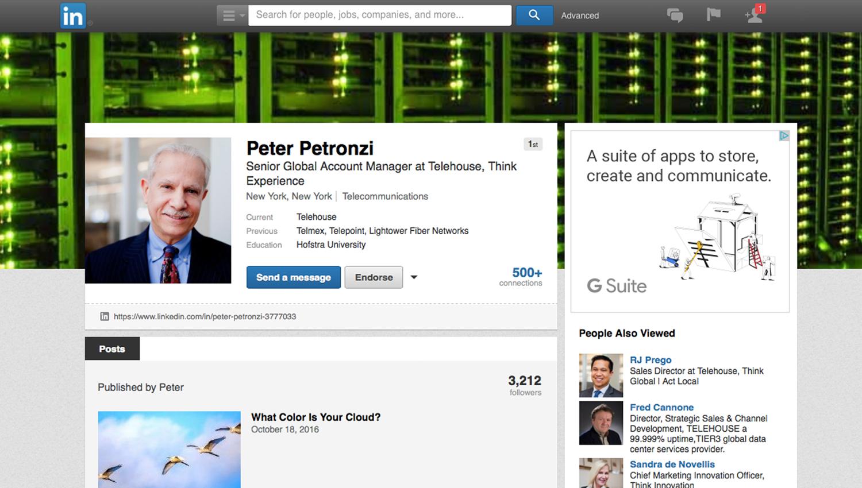 Peter Petronzi, Senior Global Account Manager at Telehouse