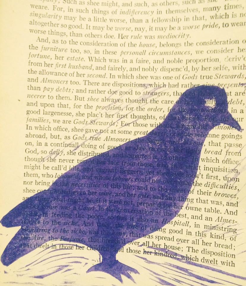 Booth decoration:original pigeon stamp courtesy of Alisha Kaplan.