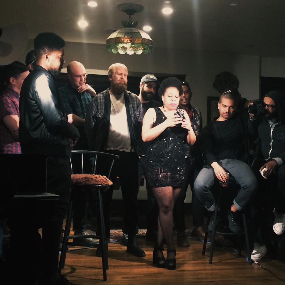 Morgan Parker and her many husbands perform at an offsite reading.