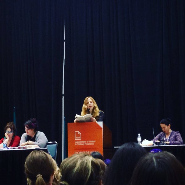 """Our luminous leader Deborah Landau, on a panel with Amber Tamblyn, Dorothea Lasky, Ada Limon, and Rachel McKibbens. """"Beyond Confession: Women's Writing and Radical Poetics of the Personal."""""""