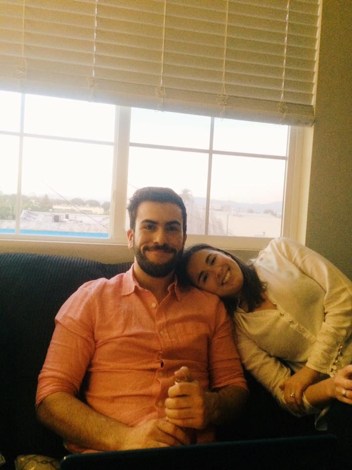 Francisco Marquez & Linda Harris Dolan, editors and temporary roommates (Airbnb in downtown LA).