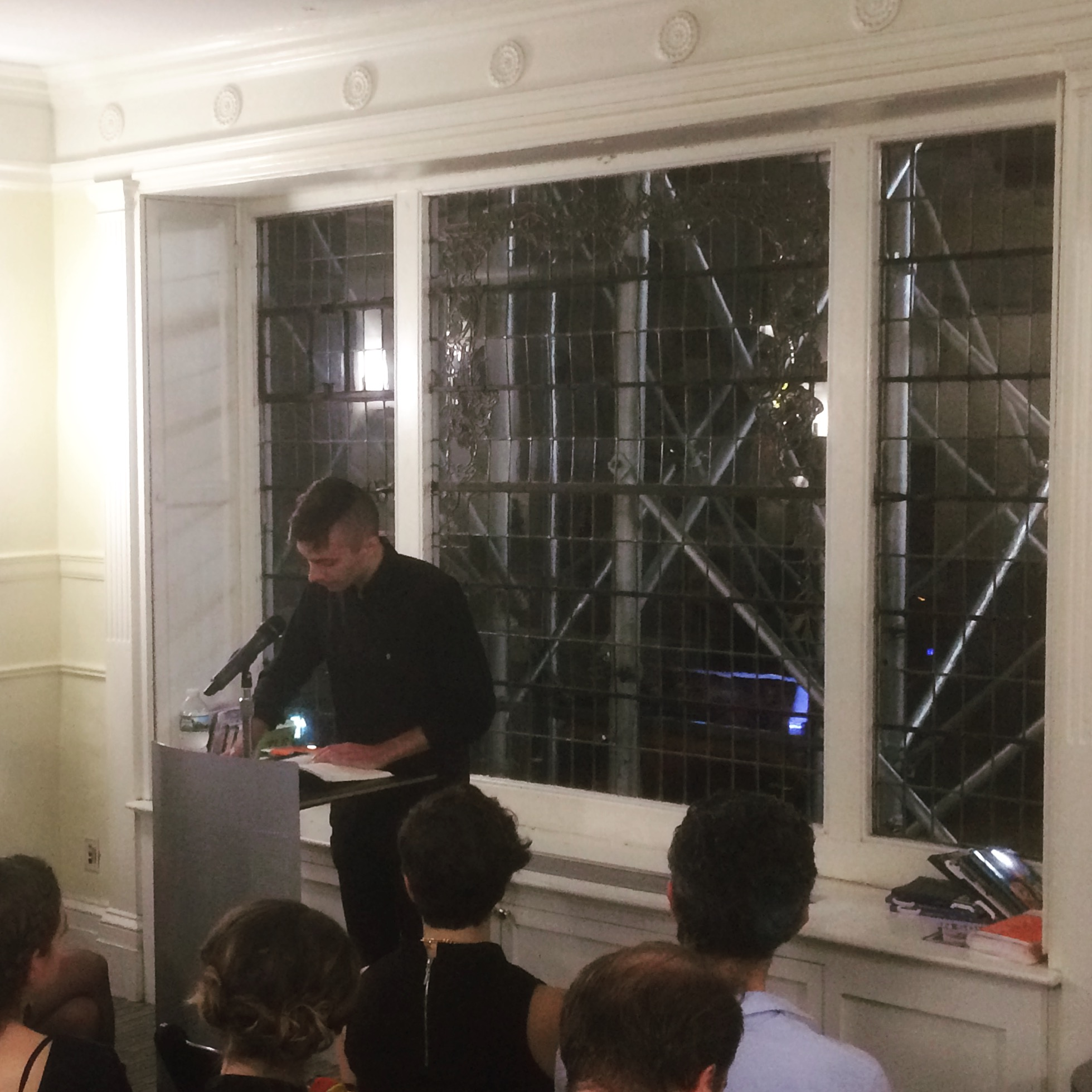 """Matthew Baker reads his story """"Meanwhile"""" from issue 38."""