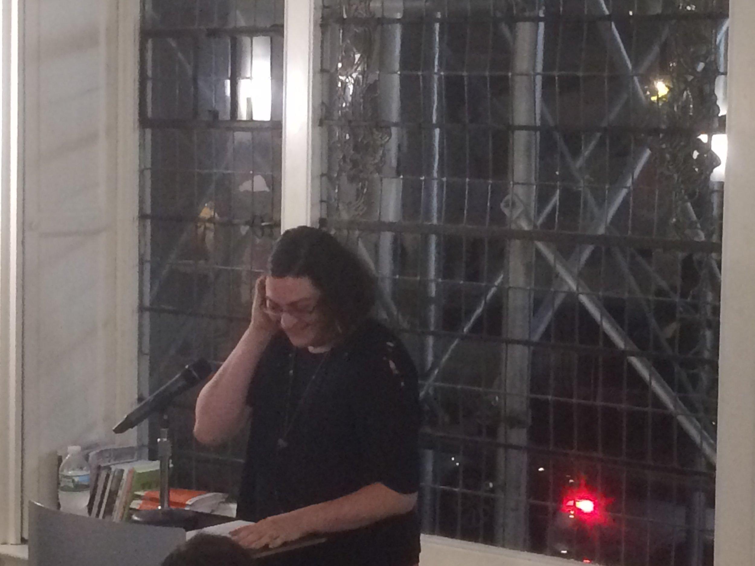Former Poetry Editor, Chase Berggrun, introducing Jay Desphande.