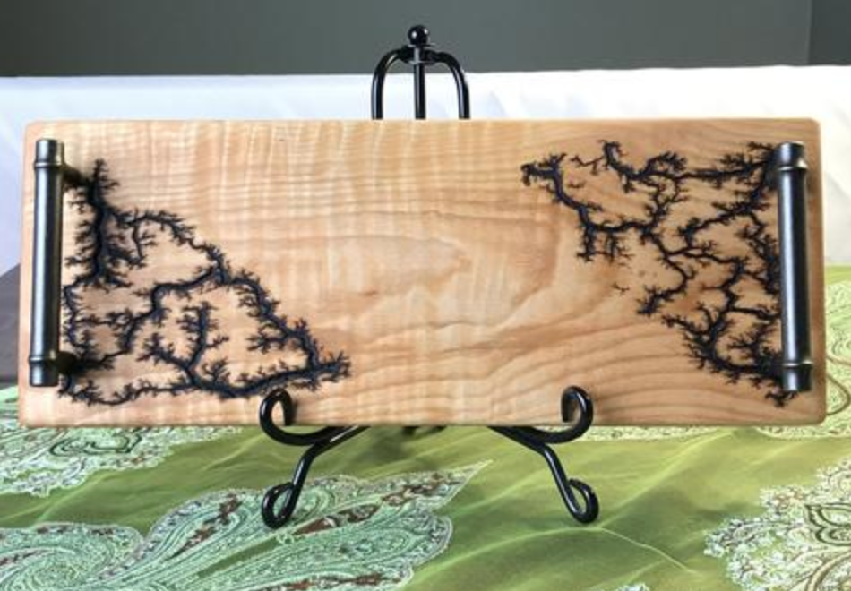 Frills:Wood Electrocuted - Learn about Lichtenberg figures—burned into wood with electricity!