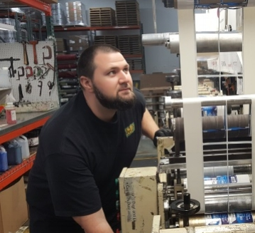 David Forbes: - I have been in manufacturing and extrusion for 10 years and thought I know it all. There were some similarities in terminology and web handling and tensions, but I quickly identified that I had lots to learn. I had no idea what an anilox roll was or even registration. This class was intense and covered a lot of content in a short period of time. I feel good about what I leaned and amazed at what I can run on a press. I am looking forward to my future as a Flexo press operator.