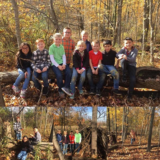 A beautiful fall day for Mrs. Grimsley's K-2 students to spend in their Outdoor Classroom.