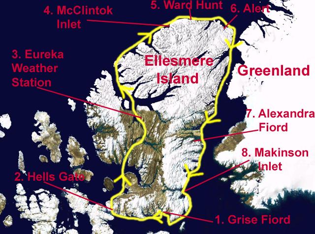 Ellesmere Route Map