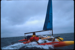 On the open ocean.