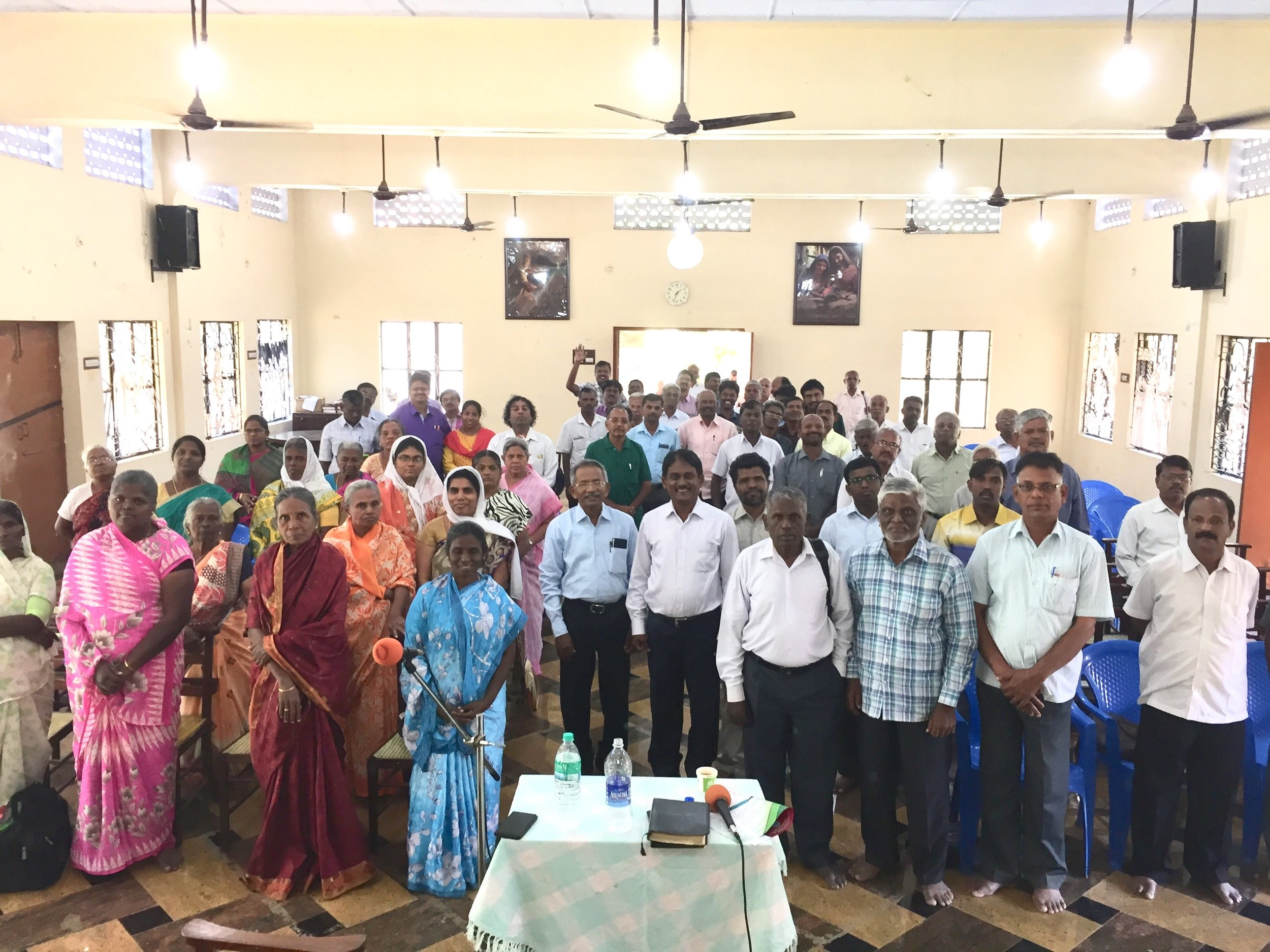 Independent Pastors Gathering February 1, 2018 at the Church of the Divine Patience, Railway District, Madurai, Tamil Nadu, India.