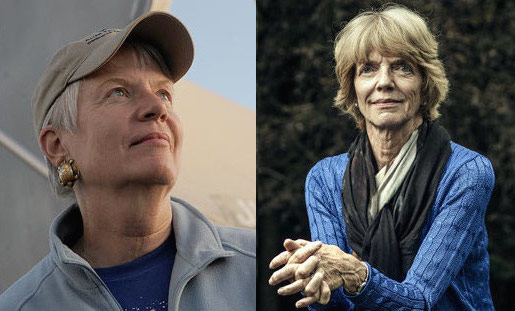 Jill Tarter (L) and Patricia Churchland