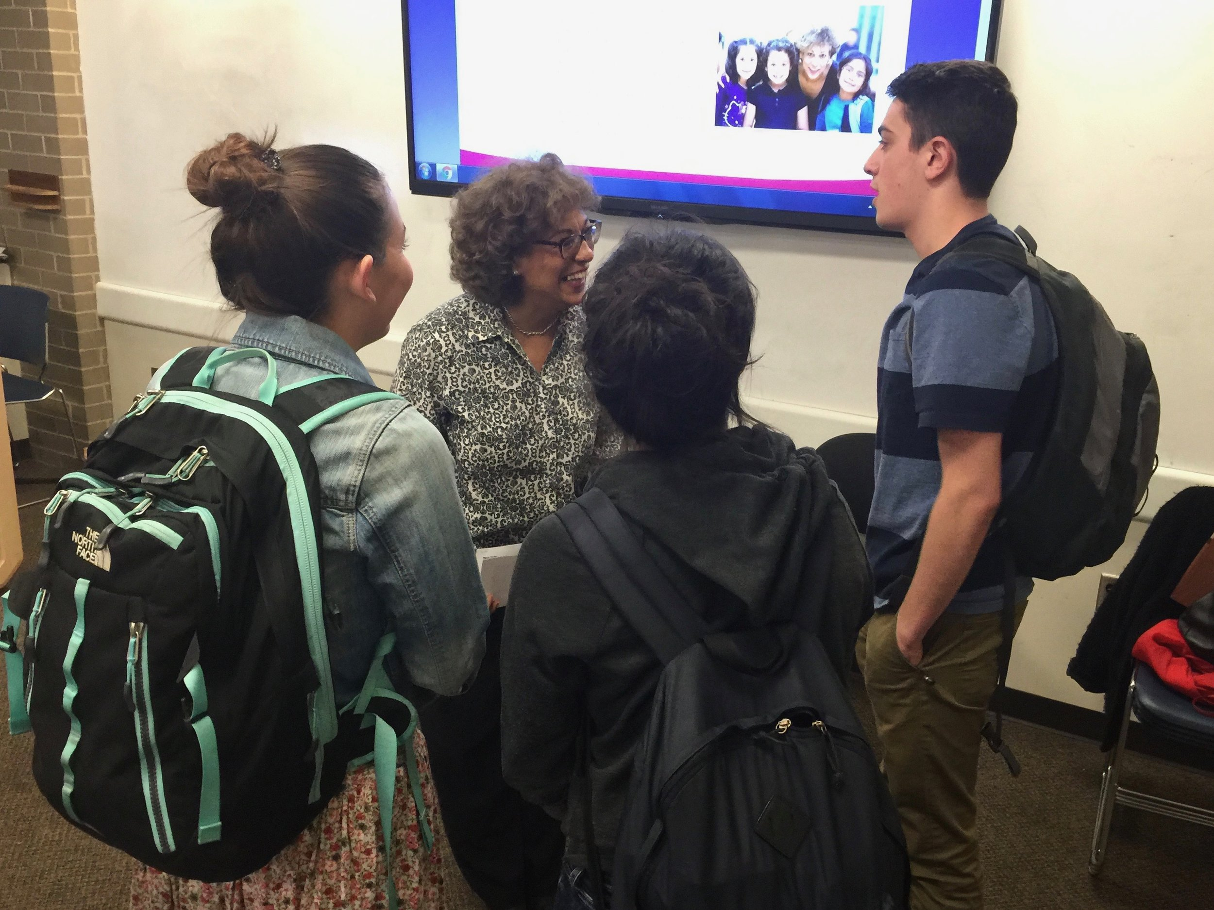 Students meet with the Executive Director of Centronia, an organization they are learning to write a grant for in HSSJ 3110: Nonprofit and organization administration