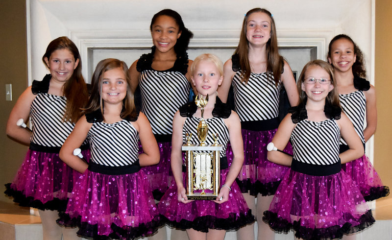 1st Place in Small A Juvenile Show Twirl Team!