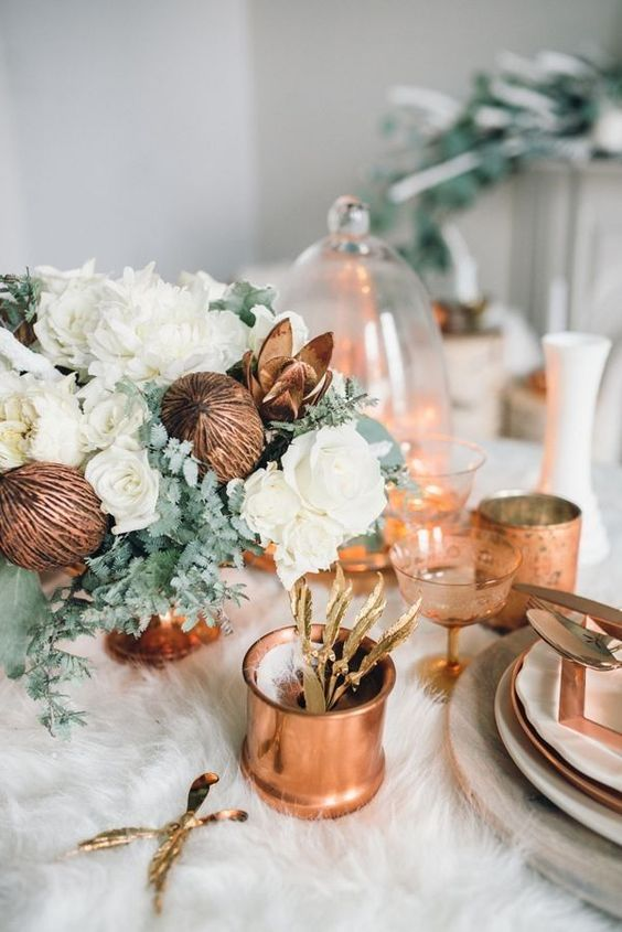 31-winter-table-setting-with-a-fur-tablecloth-and-copper-and-white-touches.jpg