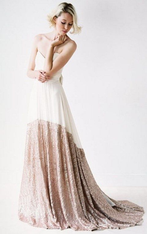 02-color-block-strapless-wedding-dress-with-copper-sequins.jpg